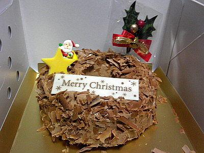 チョコレートケーキ。