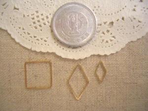 メタルリング:正方形中、ひし形大小