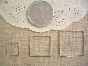 メタルリング:正方形大中小S