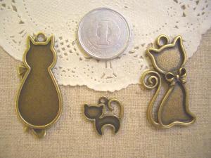 ミール皿:ネコ3種