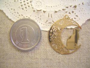 銅メタル:月とネコ