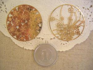 透かし:銅メタルサクラシルエット、透かしサクラ