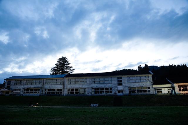 日南町 福栄小学校 ライトアップ