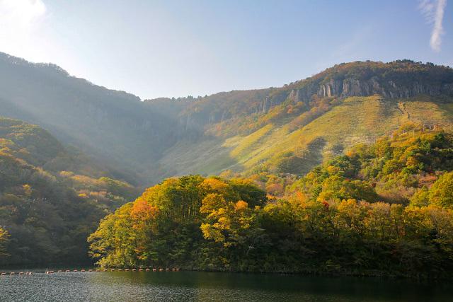 琴浦町 船上山の紅葉