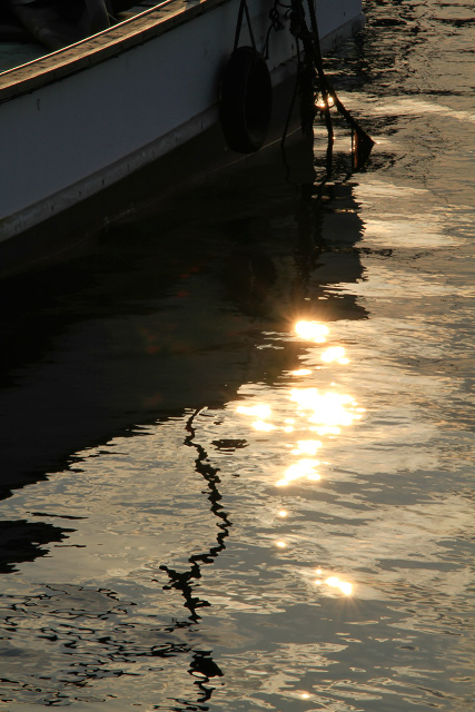 淀江漁港 夕暮れ 夕日
