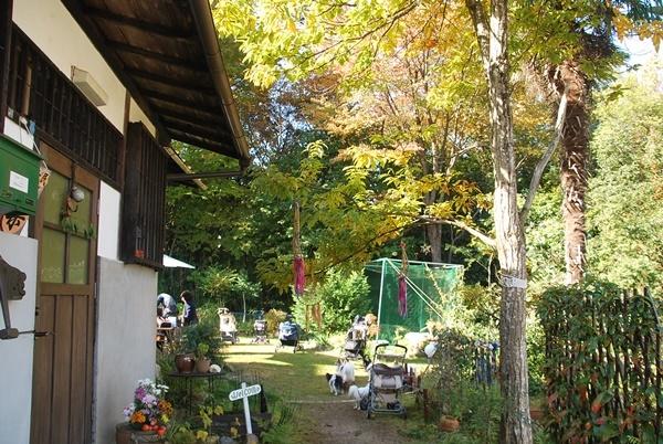 お庭の入り口