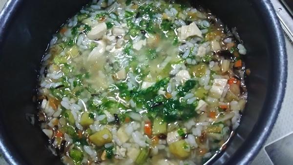 五種豆と五目入りご飯コトコト