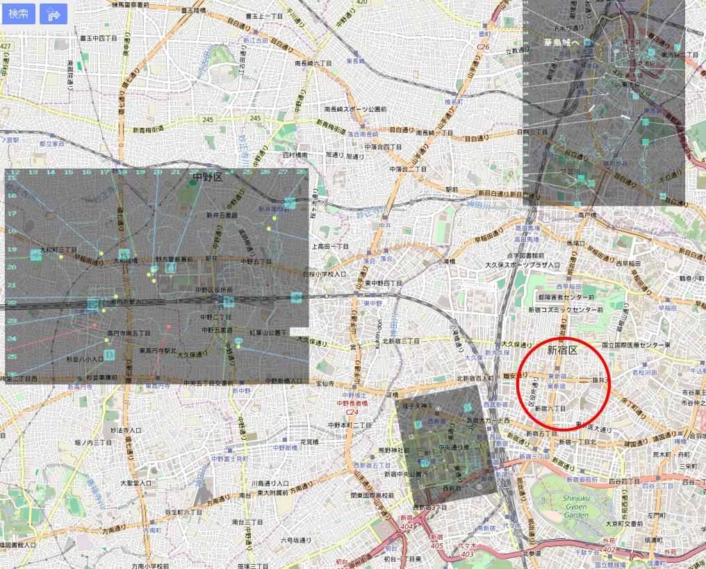 バベルの位置(広域図)