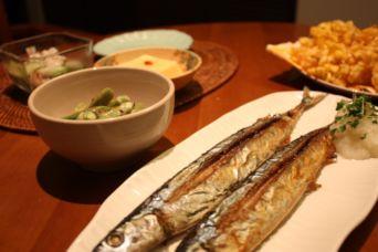 サンマとトウモロコシの天ぷら