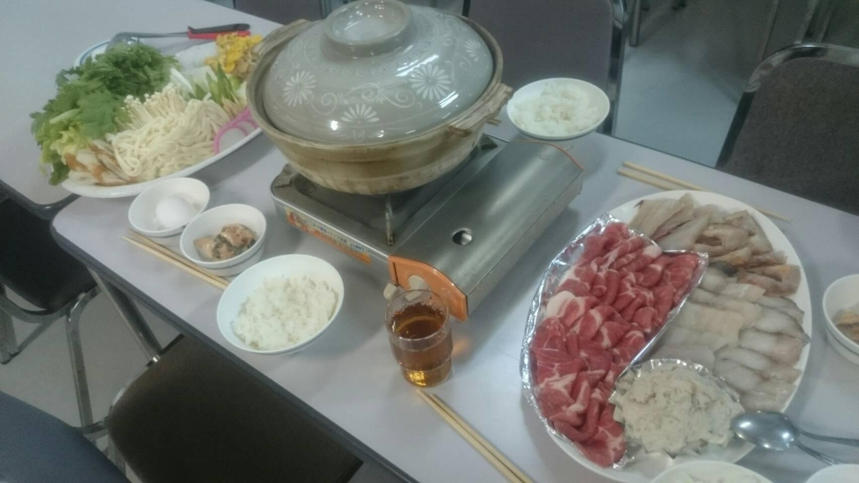 宿舎夕食②