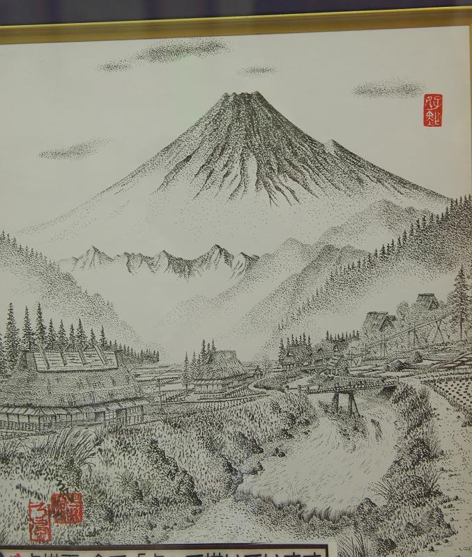 遠州横須賀街道 ちっちゃな文化展 点描画
