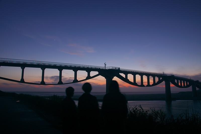 潮騒橋の夕景