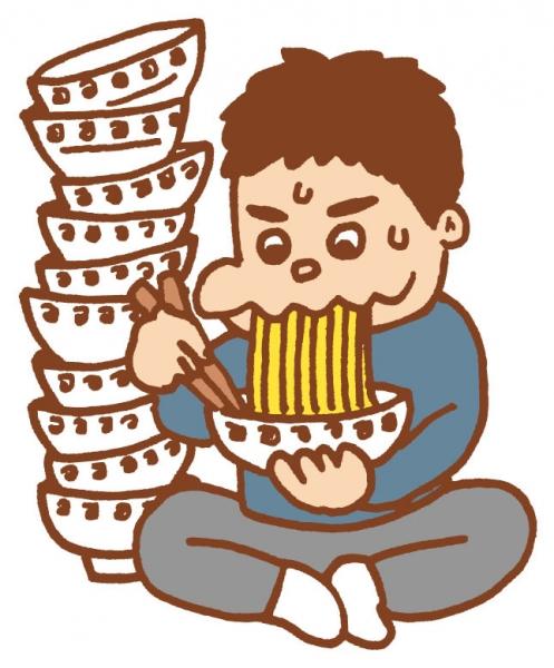 毎日ラーメン30杯を食べていたマレーシアの男性 太りすぎで動けなくなる