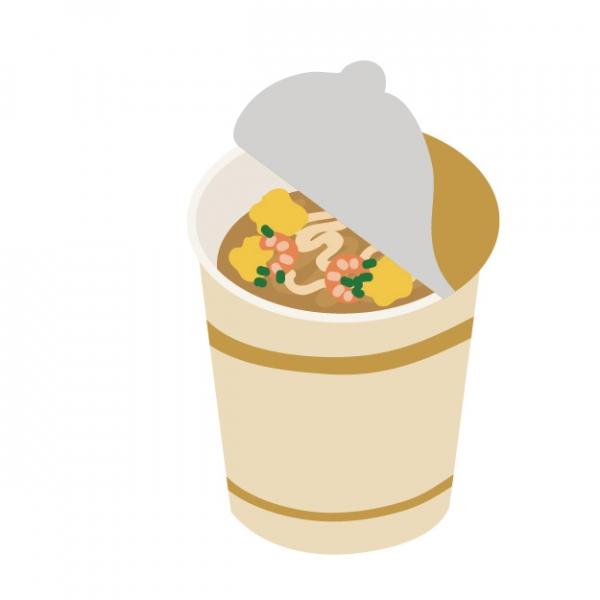 カップ麺の蓋をカップ麺の重さを利用して片手で開けてたら倒れてヤケドしたのでクレーム入れたい