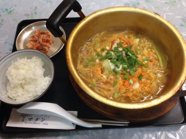 韓国弁当マダン 辛ラーメン定食