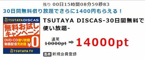 ポイントインカム TSUTAYA DISCAS2