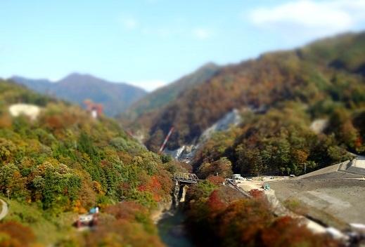八ッ場ダムジオラマ風
