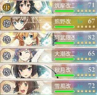 2016秋イベントE4艦隊編成1