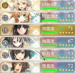 2016秋イベントE4艦隊編成2