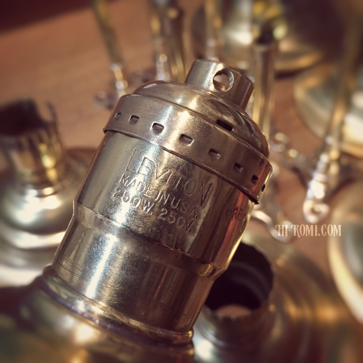 LEVITON ソケット 真鍮 ヴィンテージ ビンテージ アンティーク 照明