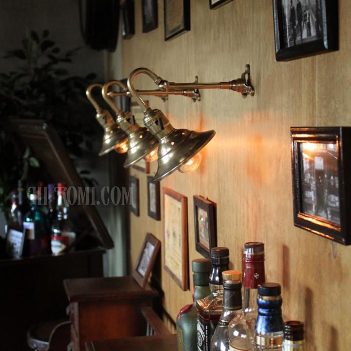 真鍮 シェード 角度調整 ブラケット 壁面 照明 ランプ Hi-Romi.com