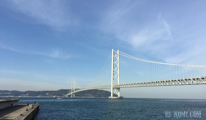 明石海峡大橋 神戸 淡路 海