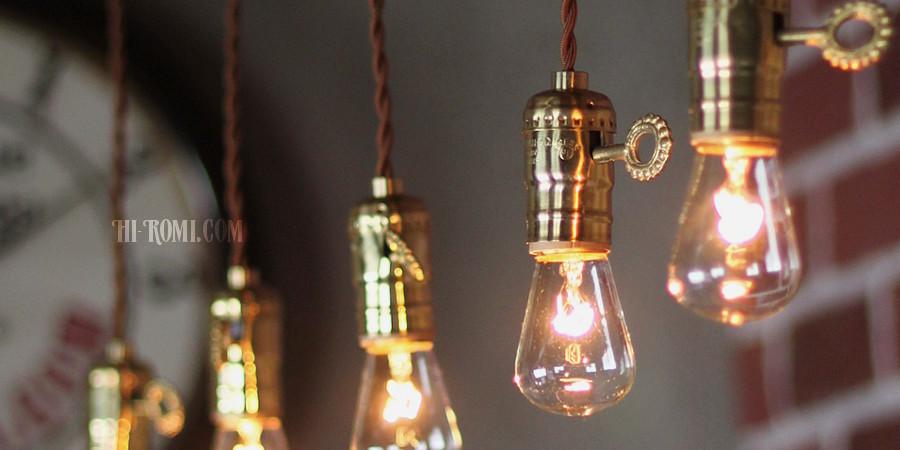 鍵 キー スイッチ 真鍮 ソケット ペンダントランプ 吊下 照明