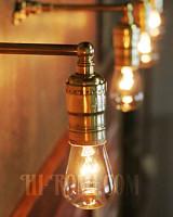 【数量限定】筒型シェード&角度調整付き真鍮製ダブルシザーアームライト3/二重蛇腹式ウォールランプ