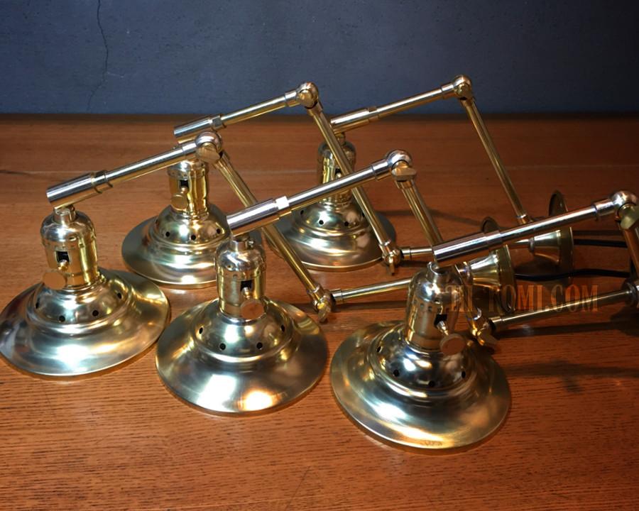 真鍮製 ブラケット 工業系 インダストリアル industrial lamp brass 真鍮製 スチームパンク
