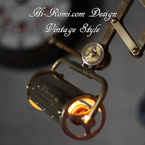 真鍮製 シザーアーム 蛇腹 ブラケット 壁面 ウォールランプ ライト 照明 オリジナル カスタム デザイン ヴィンテージ Hi-Romi.com 神戸 20160825-2