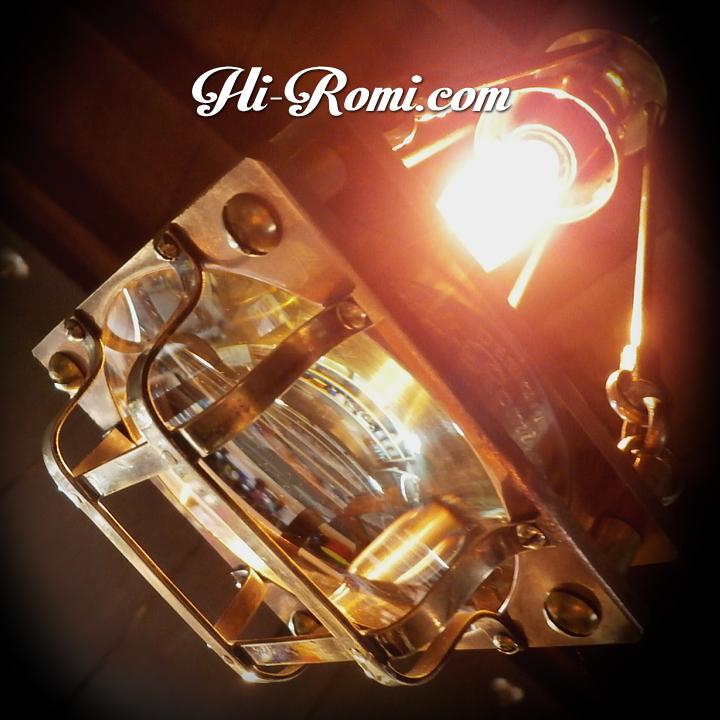 当店オリジナルの工業系オリジナルデザイン・スチームパンク吊下げ照明。ミニベル型シェード付きペンダントライト。Hi-Romi.com ハイロミドットコム 20161221-3