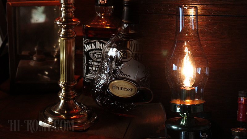 ガラスチムニー 真鍮 ランプ ハリケーンランプ テーブル 卓上照明