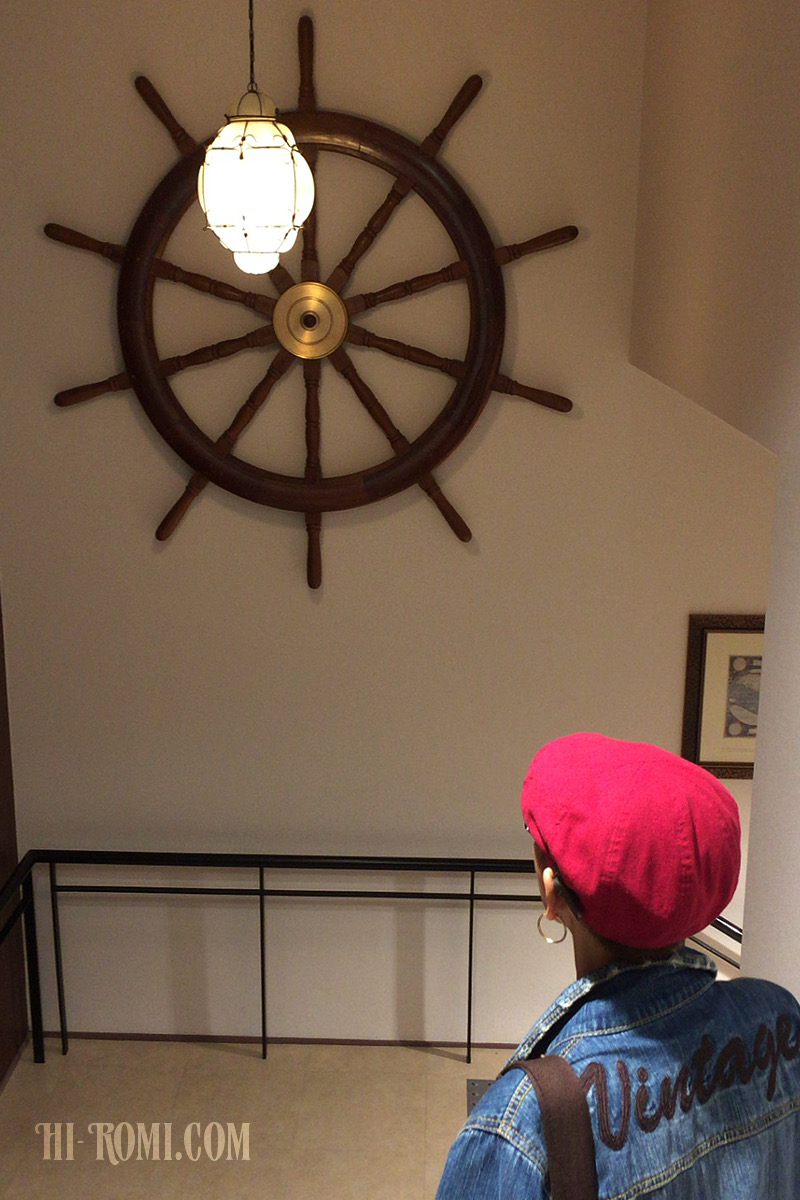 マリン 船舶 舵 木製 真鍮