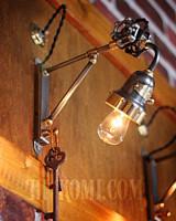 インダストリアル 真鍮 鉄 コンビ 角度調整 工業系 照明 ブラケット