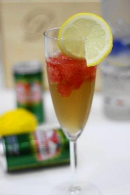 スイカシャーベットとレモンのガラナカクテル2