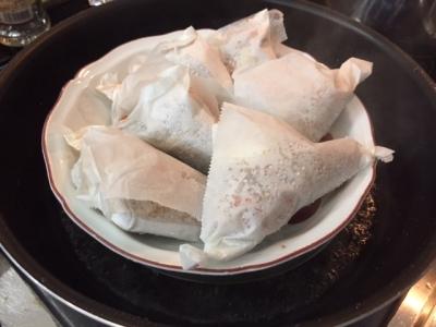 余った煮汁で作る中華風ちまき2