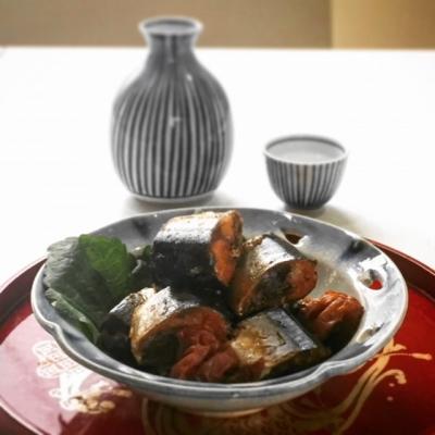 普通の鍋で骨までやわらかい、佃煮風サンマの梅酢煮1