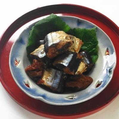 普通の鍋で骨までやわらかい、佃煮風サンマの梅酢煮2