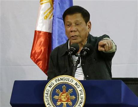 Philippine president blames US