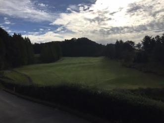 ゴルフ場天気よし