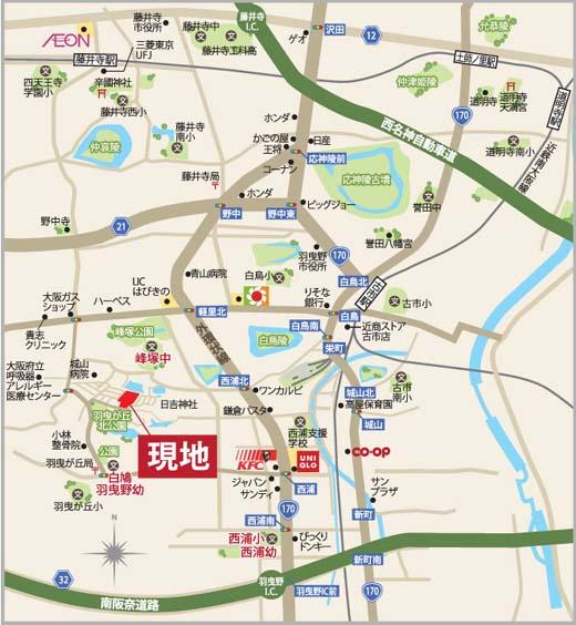 羽曳が丘MAP
