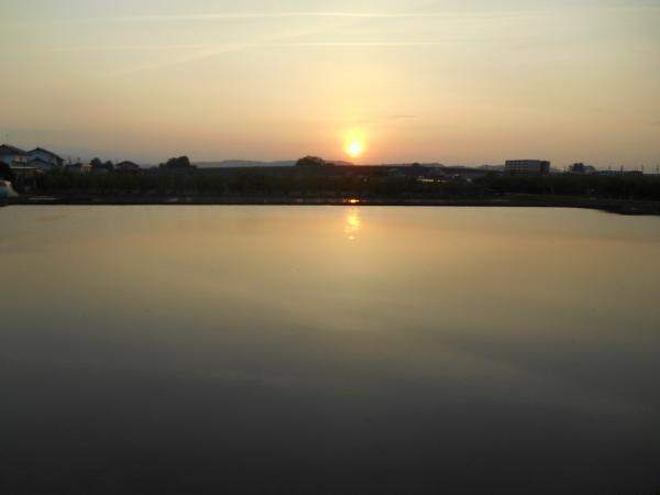 宍道湖の夕日小