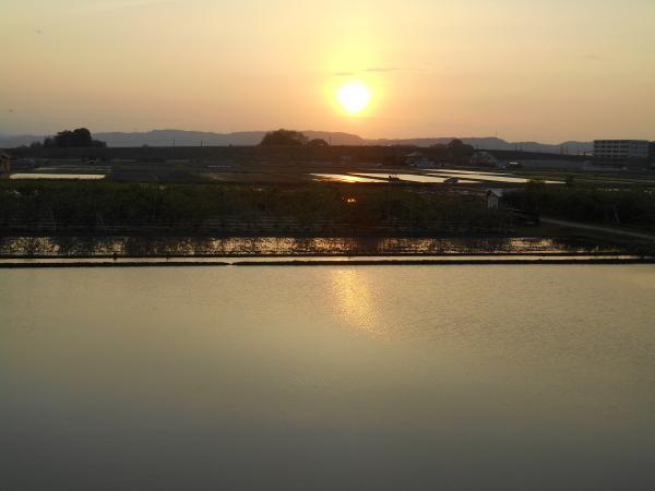 宍道湖の夕日大