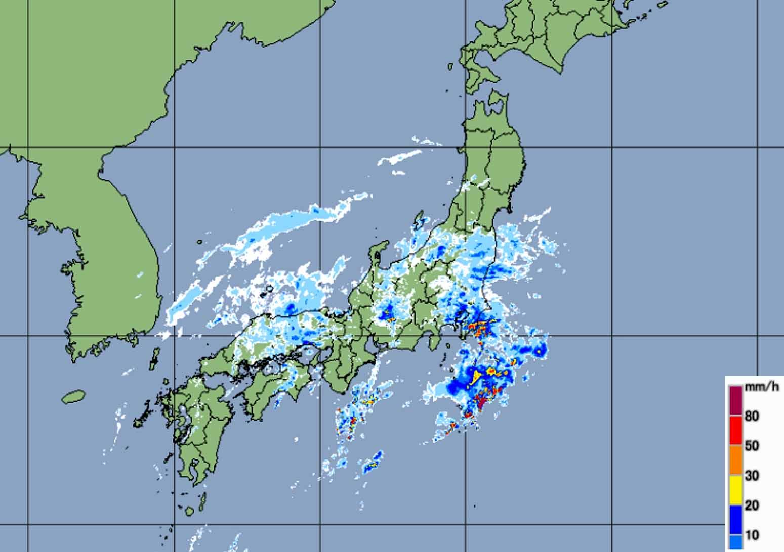 今日の日本は雨模様