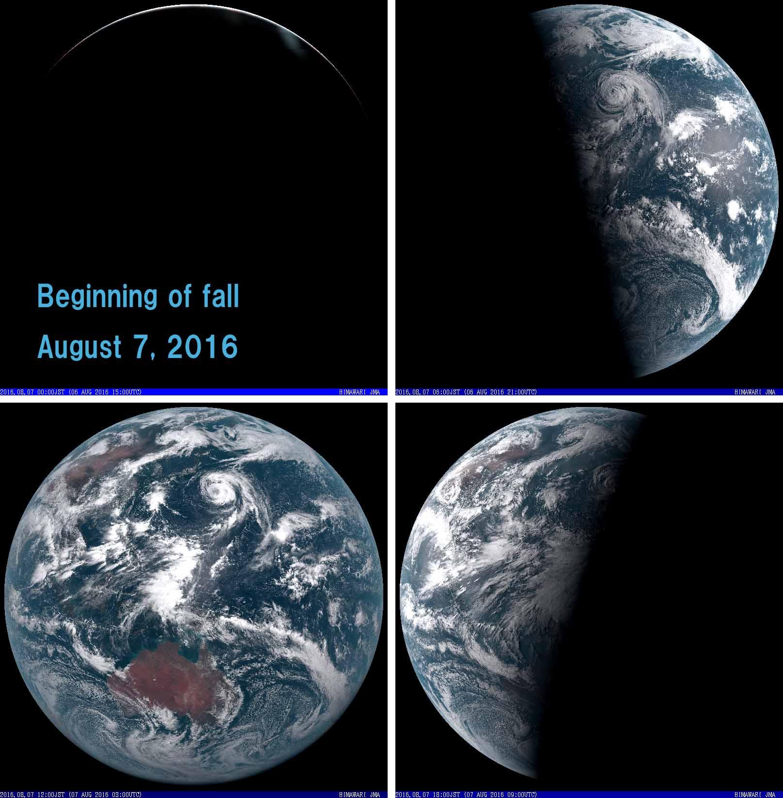 2016年8月7日 可視全球模様