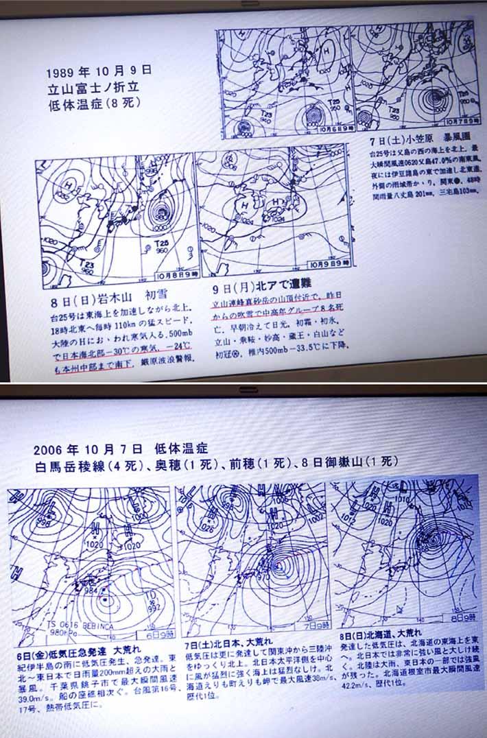 秋~初冬 山の気象講座(3)