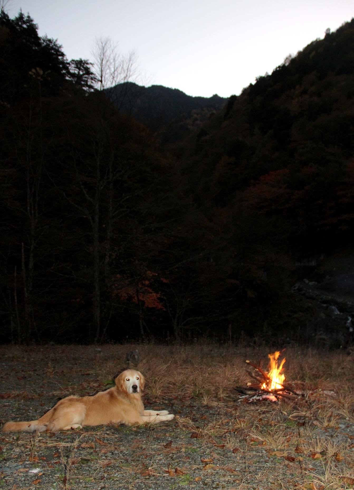 焚き火の前で(4)