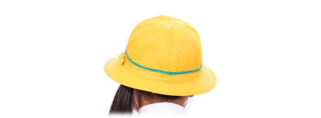 黄色通学女子帽-w1070