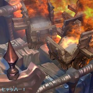 台車が燃える