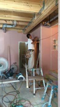 一階天井下地組み